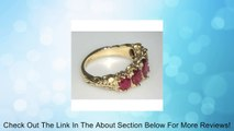 Luxury Ladies Victorian Style Solid Hallmarked Yellow 9K Gold Genuine Ruby Band Ring - Finger Sizes 5 to 12 Available - Suitable as an Eternity ring, Engagement ring, Promise ring, Anniversary ring or Wedding ring Review