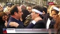 Images poignantes de Patrick Pelloux avec François Hollande (11/01/2015)