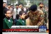 General Raheel Sharif Visits APS School Peshawar & Courageous Students As They Return To School
