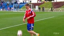 Les joueurs du Bayern soutiennent l'Allemagne pour le Mondial 2015