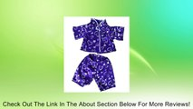 """Dark Purple Silver Heart Pj's Teddy Bear Clothes Outfit Fits Most 14"""" - 18"""" Build-A-Bear, Vermont Teddy Bears, and Make Your Own Stuffed Animals Review"""