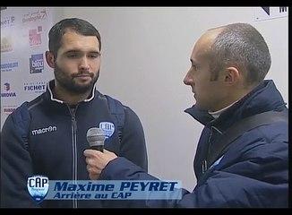 ITW de Maxime Peyret lors du match CAP vs Libourne