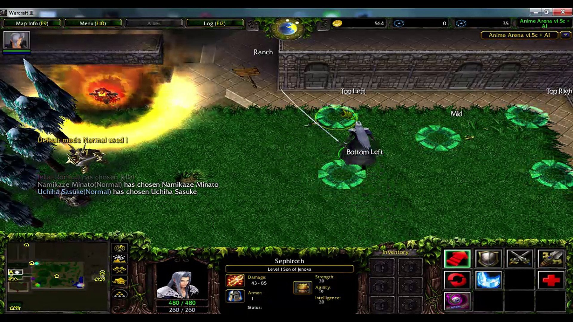 Anime Arena V1 5c With Ai Warcraft 3 Map Video Dailymotion