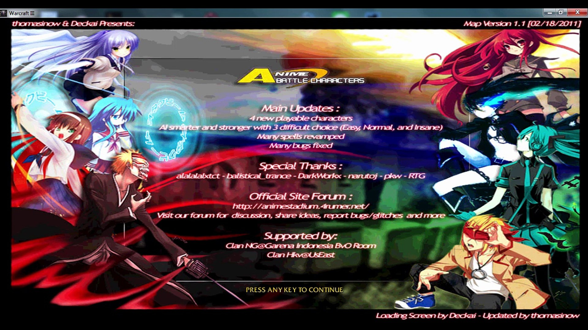 Anime Battle Character Abc V1 1 Warcraft 3 Map Video Dailymotion