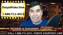 Seattle Seahawks vs. Green Bay Packers Free Pick Prediction NFC Championship Game NFL Pro Football Playoff Odds Preview 1-18-2015