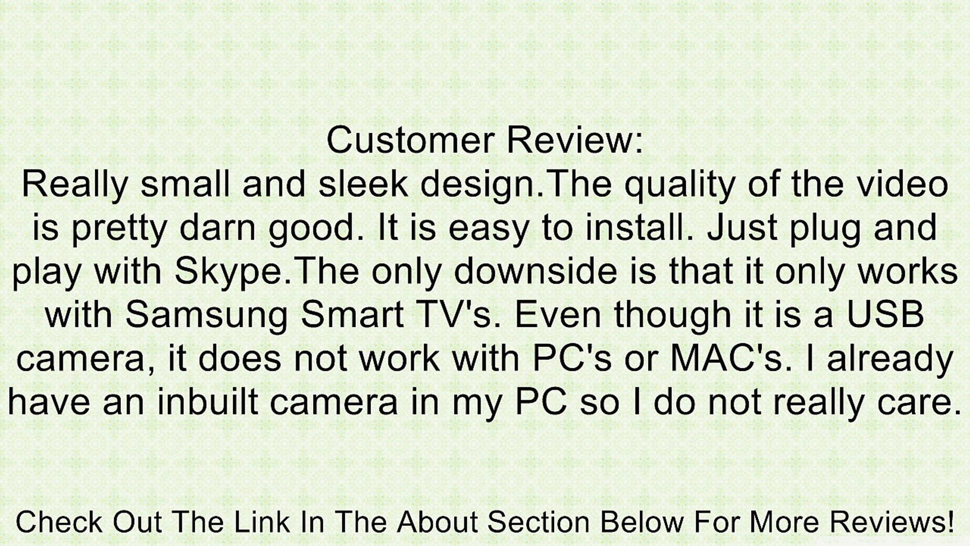 Samsung VG-STC2000 Skype TV Camera (Discontinued by Manufacturer) Review