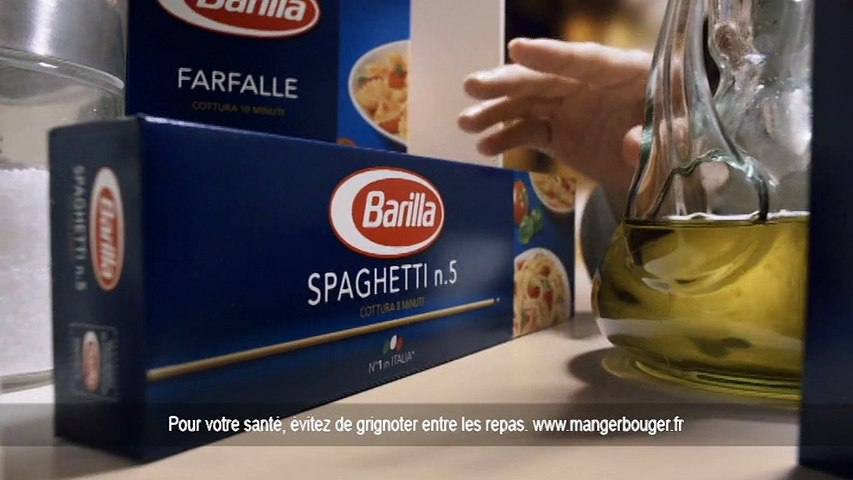 """Barilla - pâtes et sauces, """"Une histoire d'amour à l'italienne"""" - octobre 2012 - spaghetti, pesto alla genovese"""
