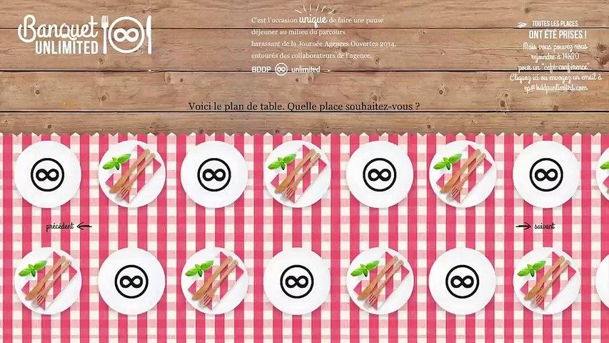 BDDP Unlimited - agence de communication, «Le Banquet Unlimited, www.lebanquetunlimited.com» - mars 2014