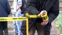 """Armée du Salut - fondation de lutte contre la pauvreté - décembre 2010 - """"L'exclusion tue"""", scène de crime Place du Palais Royal à Paris"""