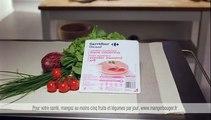 """Carrefour - produits Carrefour Discount - mai 2009 - """"Les prix bas, c'est chez Carrefour et c'est tous les jours"""", 20s, Pauline, jambon"""