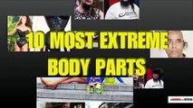 Repousser les limites: TOP 10 des records extrêmes avec certaines parties du corps humain.
