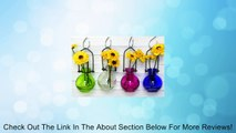 Colored Glass Hanging Flower Wall Vases G77 - Lot of 4 ~ Colored Glass Bottle ~ Floral Vase ~ Colored Vase Review