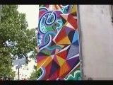 "Dulux Valentine - peinture - juin 2010 - ""Walls are dancing"", quai de Valmy, Paris, 14 juin 2010"