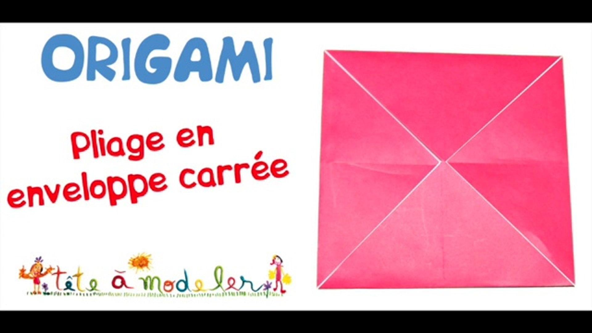 plus de photos acheter personnalisé Base pliage origami en enveloppe carrée