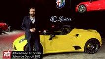 Alfa Romeo 4C - Salon de Détroit 2015