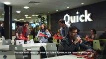 """Quick - restauration rapide - décembre 2010 - """"Burger Quick au foie gras"""""""