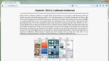 iOS 8.1.2 Evasion officiel Jailbreak Untethered iPhone, iPad iPod Touch