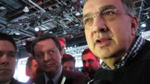 FCA Sergio Marchionne on RAM Brand Reporter Scrum 2015 NAIAS Detroit NewCarNews.TV Bob Giles