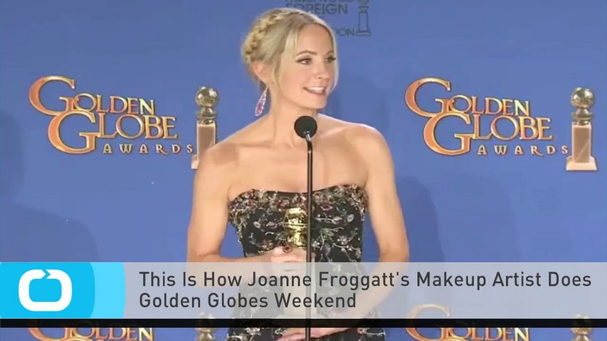 This Is How Joanne Froggatt's Makeup Artist Does Golden Globes Weekend