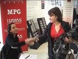 Semaine de la Publicité - reportage forum des métiers - février 2009 - Charlotte, étudiante en BTS Communication visuelle.