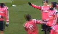 Cristiano Ronaldo baila samba y Marcelo aplaude Real Madrid