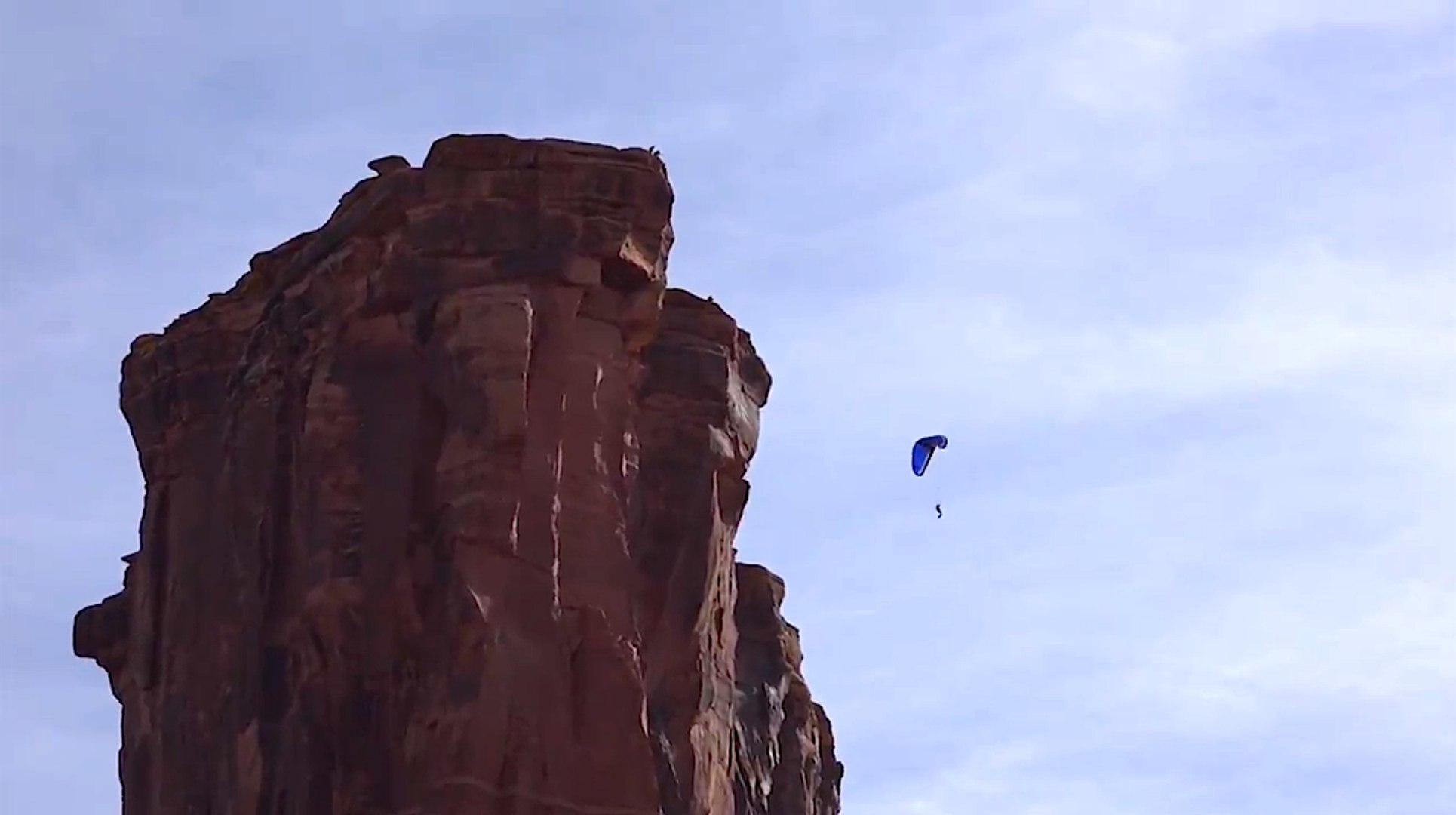 FIRST EVER BASE JUMP With 28m Velocity Paraglider From a Cliff in Moab Utah!
