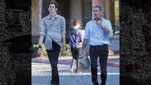 Pierce Brosnan's model son Dylan towers over the 6ft 1in star as they go out on his 18th birthday