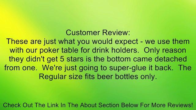 10PCS REGULAR STAINLESS STEEL POKER TABLE SLIDE UNDER CUP HOLDER REGULAR SIZE Review