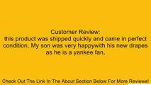 New York Yankees NY Window Treatments Valance and Drapes Review