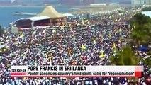 "Pope Francis canonizes Sri Lanka's first saint, calls for ""reconciliation"""