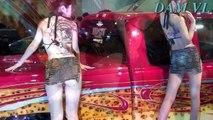 sexy girl Tokyo Auto Salon 2015 - Slim sexy dress