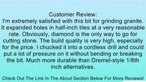 Cylinder 6 x 12mm Diamond Point Polishing Grinding Bit Burr Review