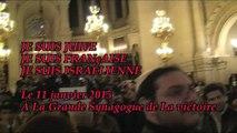 Je suis juive je suis française je suis israélienne à la synagogue de la victoire le 11 janvier 2015