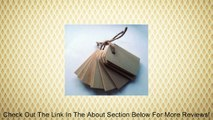 Wood Gift Tags / Blank Wooden Tags for Wine, Decor, Weddings (Pkg 100) Review