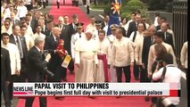 Pope Francis begins first full day in Philippines