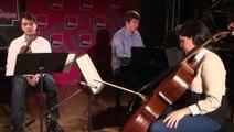 Debussy : trio pour piano violon violoncelle (3e mvt) par le Trio Milhaud   Le live de la matinale