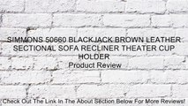Excellent Simmons 50660 Blackjack Brown Leather Sectional Sofa Recliner Theater Cup Holder Review Pabps2019 Chair Design Images Pabps2019Com