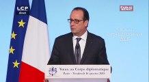Voeux de François Hollande au Corps Diplomatique - Evénements