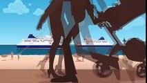 Le port de Calais, en version dessin animé / The port of Calais in cartoons