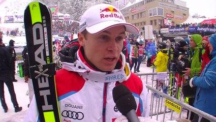 Alexis Pinturault après sa 4ème place en slalom à Wengen / Vidéo FFS-EUROSPORT