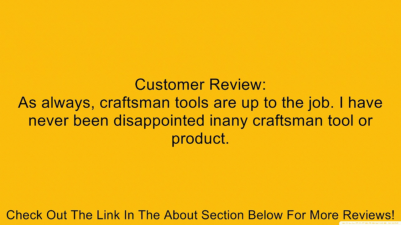 Craftsman 9-45378 6 3/4-Inch Slip Joint Pliers Review