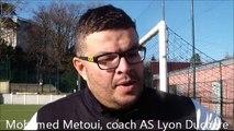 réactions d'après match AS Duchère U19 - SC Bastia U19 64èmes de finale Gambardella 2014 2015