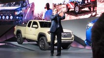 Toyota Group VP Bill Fay 2016 Tacoma TRD Off Road Intro -- NAIAS 2015 Bob Giles NewCarNews.TV