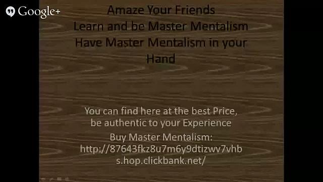 Master Mentalism, Mentalism _ Magic Secrets Revealed