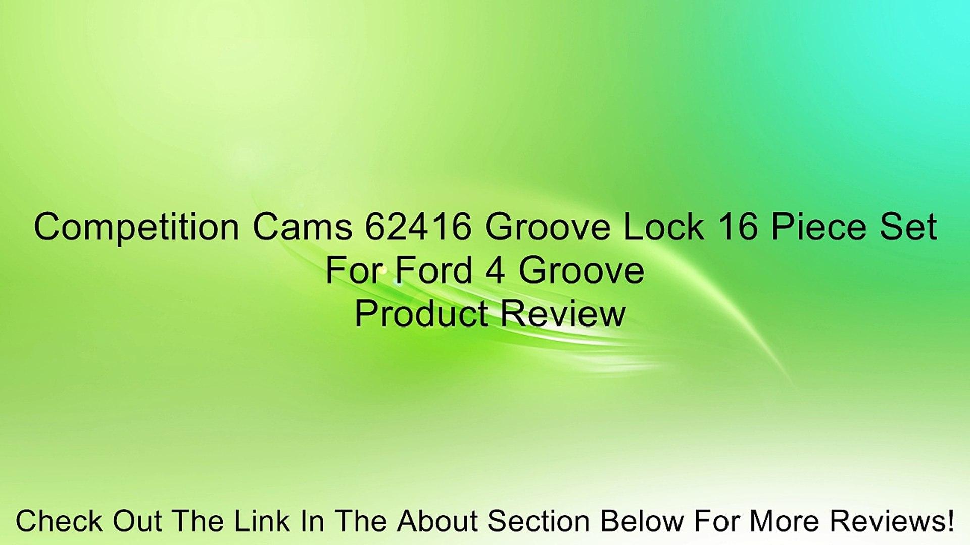 Competition Cams 60516 Valve Locks /& Lash Caps 16 Piece Set For Ford 4-Groove 11//32 Diam Stem