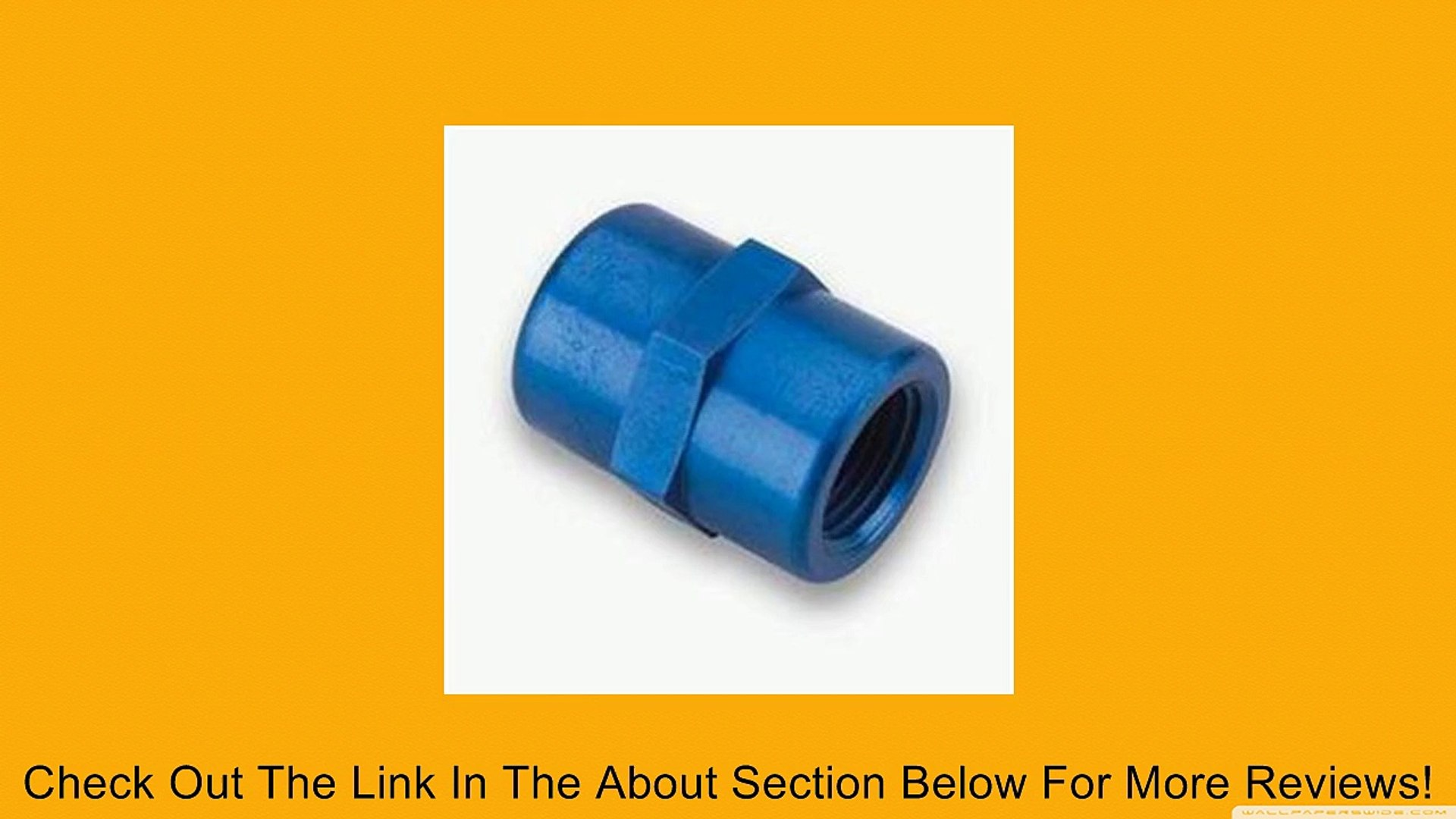 Earls 991203 Blue Anodized Aluminum 1//8 NPT Female to 3//8 NPT Male Pipe Bushing Reducer