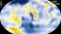 Vidéo : l'évolution du réchauffement climatique illustrée en 30 secondes