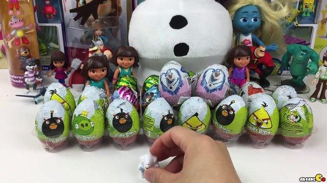 Kinder Surprise Eggs  Disney Frozen Kinder Surprise Eggs - Frozen Olaf Surprise Eggs