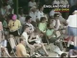 Robin Smith magnificent 4 runs, then brilliantly ran out by Curtly Ambrose