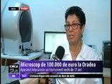 100 de mii de euro costă cel mai performant microscop intrat în dotarea Spitalului Judeţean din Oradea. Cumpărat cu fonduri europene, instrumentul este extrem de util medicilor, care pot face operaţii delicate.